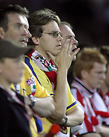 Photo: Paul Thomas.<br /> Derby County v Southampton. Coca Cola Championship. Play Off Semi Final, 2nd Leg. 15/05/2007.<br /> <br /> Southampton fans show concern during the game.