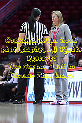 NORMAL, IL - February 10: Lindsey VanDyken and Kristen Gillespie during a college women's basketball Play4Kay game between the ISU Redbirds and the Indiana State Sycamores on February 10 2019 at Redbird Arena in Normal, IL. (Photo by Alan Look)