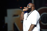 Rick Ross performing in support of Lil Wayne on the I Am Still Music Tour at the Scottrade Center in St. Louis, MO, on April 10, 2011.
