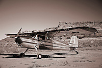 1947 Cessna 140 airplane parked at Needles Outpost, UT