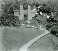 1927 Pilgrimage Play Theater on the east side of the Cahuenga Pass.