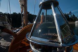 Compass on Orion at Jones Island State Park, San Juan Islands, Washington, US