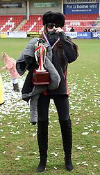 Sellebrity Soccer - charity football match Katie Price, Kerry Katona, Shayne Ward, Max Morley, Terry Alderton, Jamie Borthwick, Calum Best, Jamie O'Hara, Chris Hughes, Sam Bailey, Simon Webbe, Lee Latchford-Evans, James Argent, Lee Ryan, Dan Osborne, DJ Harvey, Jake Wood, Jamie Reed, James Hill, Dean Gaffney, act as rival team managers (Price and Katona) as celebrities take part in charity football match in aid of the Midlands Air Ambulance. • LCI Rail Stadium, Whaddon Road, Cheltenham, GL52 5NA. 25 Mar 2018 Pictured: Katie Price, Kerry Katona, Shayne Ward, Max Morley, Terry Alderton, Jamie Borthwick, Calum Best, Jamie O'Hara, Chris Hughes, Sam Bailey, Simon Webbe, Lee Latchford-Evans, James Argent, Lee Ryan, Dan Osborne, DJ Harvey, Jake Wood, Jamie Reed, James Hill,. Photo credit: Neil Warner/MEGA TheMegaAgency.com +1 888 505 6342