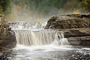 A small waterfall on the Smith River in the Siuslaw National Forest, Oregon.
