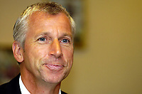 Photo: Olly Greenwood.<br />West Ham United Press Conference. 05/09/2006.  <br />West Ham manager Alan Pardew is a happy man after unveiling his new signings.