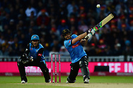 Luke Wright of Sussex hits down the ground during the final of the Vitality T20 Finals Day 2018 match between Worcestershire Rapids and Sussex Sharks at Edgbaston, Birmingham, United Kingdom on 15 September 2018.