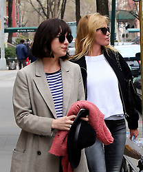April 17, 2015 - New York City, NY, USA - Actresses Dakota Johnson and her mother Melanie Griffith leave an East Village apartment on April 17 2015 in New York City  (Credit Image: © Philip Vaughan/Ace Pictures/ZUMA Wire)