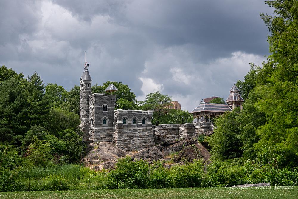 Dark Clouds over Belvedere Castle in Central Park