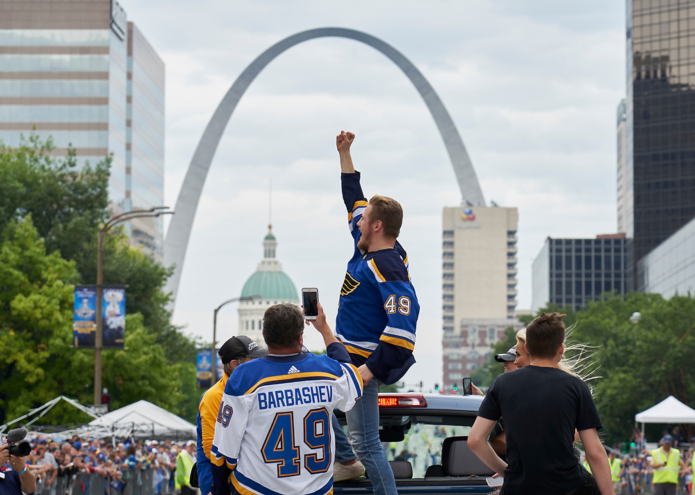 St. Louis Blues Stanley Cup Parade on June 15, 2019.