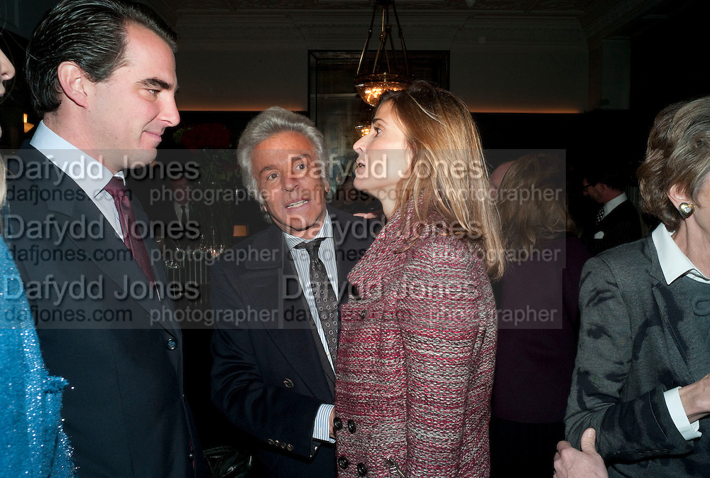 PRINCE NIKOLAOS OF GREECE; GIANCARLO GIAMETTI; PRINCESS ROSARIO OF BULGARIA, , Graydon and Anna Carter host a lunch for Carolina Herrera to celebrate the ipening of her new shop on Mount St. .The Connaught. London. 20 January 2010