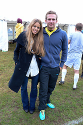 IRENE FORTE and JACOBI ANSTRUTHER-GOUGH-CALTHORPE at the Ripley Football Tournament hosted by Irene Forte in aid of The Samaritans held at Ryde Farm, Hungry Hill Lane, Ripley, Surrey on 14th September 2013.  After the football guests enjoyed an after party.