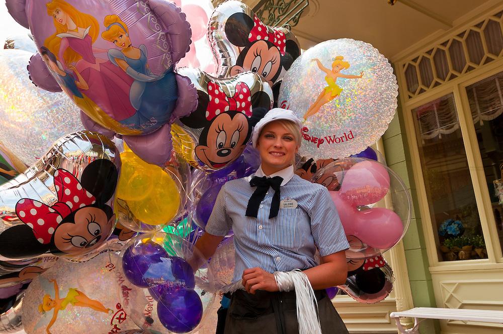 Disney balloons, Magic Kingdom, Walt Disney World, Orlando, Florida USA