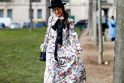 street style, Noa Souffir arriving at Leonard Fall-Winter 2018-2019 show held at pavillon Ledoyen, in Paris, France, on March 5th, 2018. Photo by Marie-Paola Bertrand-Hillion/ABACAPRESS.COM