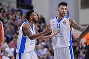 DESCRIZIONE : Eurolega Euroleague 2015/16 Group D Dinamo Banco di Sardegna Sassari - Brose Basket Bamberg<br /> GIOCATORE : MarQuez Haynes Brian Sacchetti<br /> CATEGORIA : Fair Play<br /> SQUADRA : Dinamo Banco di Sardegna Sassari<br /> EVENTO : Eurolega Euroleague 2015/2016<br /> GARA : Dinamo Banco di Sardegna Sassari - Brose Basket Bamberg<br /> DATA : 13/11/2015<br /> SPORT : Pallacanestro <br /> AUTORE : Agenzia Ciamillo-Castoria/L.Canu