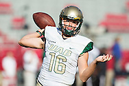 FAYETTEVILLE, AR - OCTOBER 25:  Jeremiah Briscoe #16 of the UAB Blazers warms up before a game against the Arkansas Razorbacks at Razorback Stadium on October 25, 2014 in Fayetteville, Arkansas.  The Razorbacks defeated the Blazers 45-17.  (Photo by Wesley Hitt/Getty Images) *** Local Caption *** Jeremiah Briscoe
