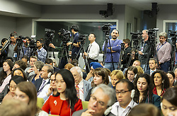 September 28, 2018 - New York, New York, United States - Journalists around the world attend press conference by Russia Minister of Foreign Affairs Sergey Lavrov during 73rd UNGA session at United Nations Headquarters (Credit Image: © Lev Radin/Pacific Press via ZUMA Wire)