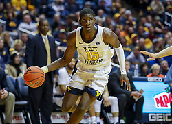 Nov 24, 2018; Morgantown, WV, USA; West Virginia Mountaineers forward Lamont West (15) drives baseline during the second half at WVU Coliseum. Mandatory Credit: Ben Queen-USA TODAY Sports