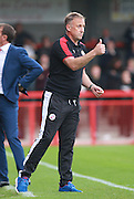 Crawley Town Manager Mark Yates during the Sky Bet League 2 match between Crawley Town and Leyton Orient at the Checkatrade.com Stadium, Crawley, England on 10 October 2015. Photo by Bennett Dean.