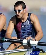Sydney, AUSTRALIA, USA M2- Silver Medalist, .Bow, Edward MURPHY. 2000 Olympic Regatta, West Lakes Penrith. NSW.  [Mandatory Credit. Peter Spurrier/Intersport Images] Sydney International Regatta Centre (SIRC) 2000 Olympic Rowing Regatta00085138.tif