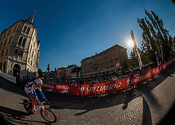 Sander Helven (BEL) of Toposport Vlanderen competes during amateur Hervis Time Trial at Stage 1of  cycling race 20th Tour de Slovenie 2013 - Time Trial 8,8 km in Ljubljana,  on June 12, 2013 in Slovenia. (Photo By Vid Ponikvar / Sportida)