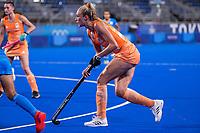 TOKIO - Sanne Koolen (NED) speelt haar 50e interland  tijdens de wedstrijd dames , Nederland-India (5-1) tijdens de Olympische Spelen   .   COPYRIGHT KOEN SUYK