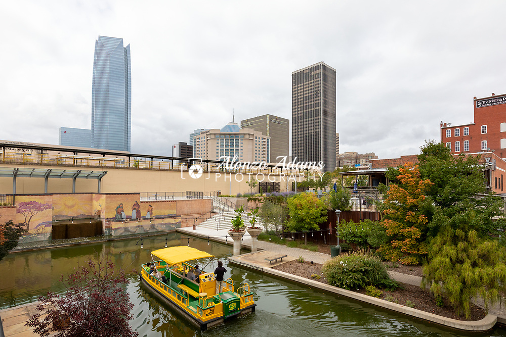 Bricktown Oklahoma City on a cloudy day. Photo copyright © 2020 Alonzo J. Adams.