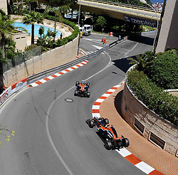 28.05.2011, Circuit de Monaco, Monte Carlo, MCO, Großer Preis von Monaco, Monte Carlo, RACE 06, im Bild  DHL Branding - Timo Glock (GER), Marussia Virgin Racing - Jerome De Ambrosio (BEL) Marussia Virgin Racing Team    EXPA Pictures © 2011, PhotoCredit: EXPA/ nph/  Dieter Mathis        ****** only for AUT, POL & SLO ******