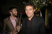 David Tennant and Rufus Sewell, Royal Court Theatre 50th Anniversary Gala sponsored by Vanity Fair. Titanic. Brewer St. London. 26 April 2006. ONE TIME USE ONLY - DO NOT ARCHIVE  © Copyright Photograph by Dafydd Jones 66 Stockwell Park Rd. London SW9 0DA Tel 020 7733 0108 www.dafjones.com
