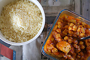 Traditional North African Couscous and vegetables