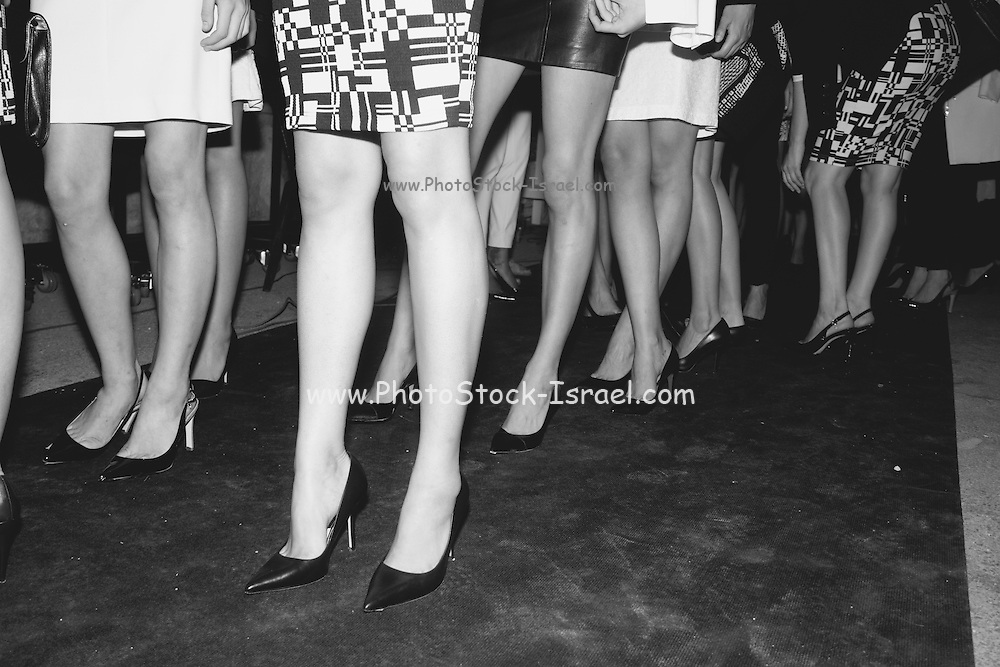 Models in a fashion show - backstage