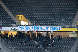 16.05.2019, Stade de Suisse, Bern, SUI, Super League, BSC Young Boys vs Grasshopper Club, 34. Runde, im Bild Protestbanner der GC Fans // during the Suisse Super League 34th round match between BSC Young Boys and Grasshopper Club at the Stade de Suisse in Bern, Switzerland on 2019/05/16. EXPA Pictures © 2019, PhotoCredit: EXPA/ Freshfocus/ Claudio de Capitani<br /> <br /> *****ATTENTION - for AUT, SLO, CRO, SRB, BIH, MAZ, ITA only*****