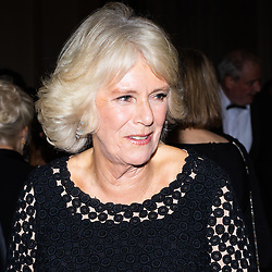 Her Royal Highness Camilla the Duchess of Cornwall speaks to guests at a reception prior to he Man Booker Prize dinner at the Guildhall in London. Guildhall, London, October 16 2018.