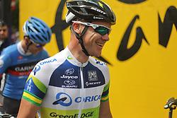 01.07.2012, Luettich, BEL, Tour de France, 1. Etappe Luettich-Seraing, im Bild O'GRADY Stuart (Orica Greenedge) gut gelaunt // during the Tour de France, Stage 1, Liege-Seraing, Belgium on 2012/07/01. EXPA Pictures © 2012, PhotoCredit: EXPA/ Eibner/ Ben Majerus..***** ATTENTION - OUT OF GER *****