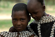 Themay children, Themay Tribe Village, Omo Valley, Ethiopia, portrait, person, one, tribes, tribal, indigenous, peoples, Southern, ethnic, rural, local, traditional, culture, primitive, young