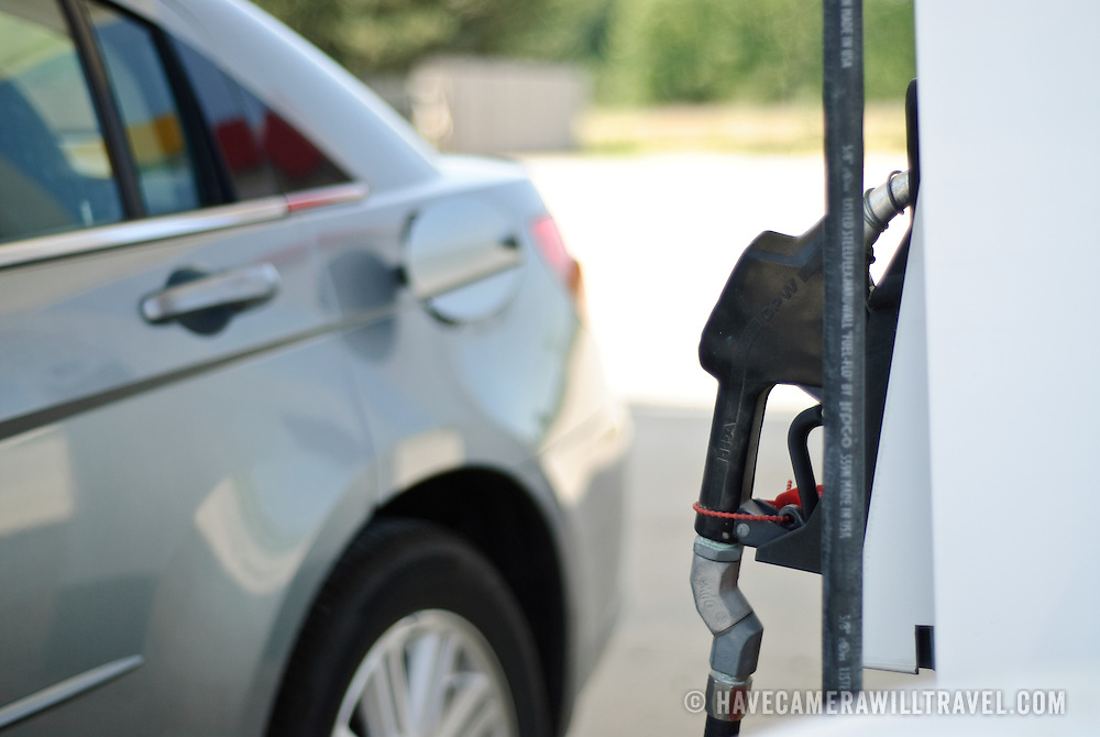 A deserted gas (petrol) station