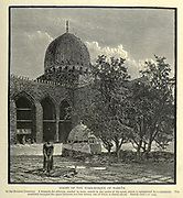 Wood engraving of the COURT OF THE TOMB-MOSQUE OF BARKUK from 'Picturesque Palestine, Sinai and Egypt' by Wilson, Charles William, Sir, 1836-1905; Lane-Poole, Stanley, 1854-1931 Volume 4. Published in 1884 by J. S. Virtue and Co, London