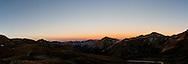 Sunset over the San Juan mountains in southwestern Colorado.