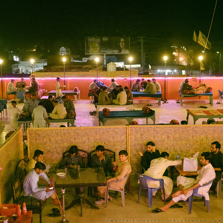 The city comes alive at night, all restaurants are outdoor.