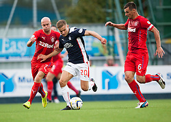 Rangers Nicky Law and Lee McCulloch and Falkirk's Alex Cooper. Falkirk 0 v 2 Rangers, Scottish Championship game played 15/8/2014 at The Falkirk Stadium.