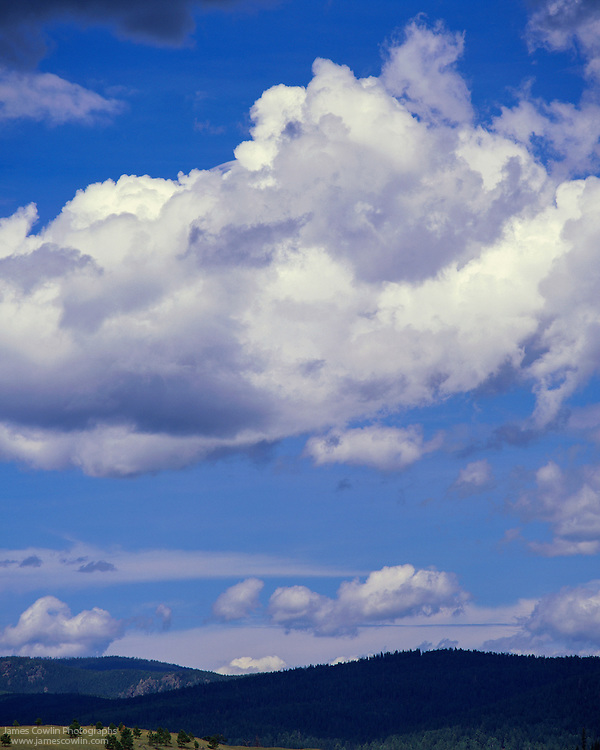 Clouds over the White Mountains in Arizona
