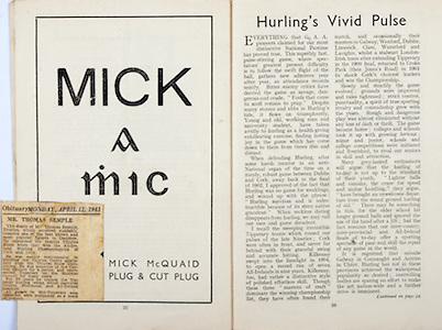 All Ireland Senior Hurling Championship Final,.Brochures,.05.09.1948, 09.05.1948, 5th September 1948, .Waterford 6-7, Dublin 4-2, .Minor Kilkenny v Waterford, .Senior Dublin v Waterford, .Croke Park, ..Advertisements, Mick McQuaid Plug & Cut Plug, ..Articles, Obituary Mr Thomas Semple, Hurling's Vivid Pulse,