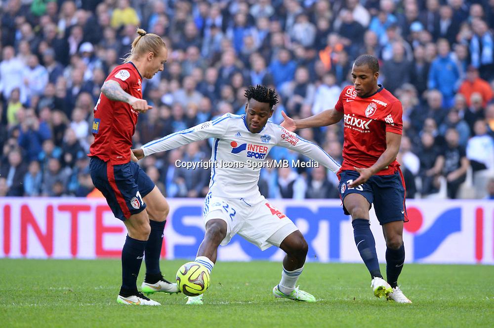 Simon KJAER / Michy BATSHUAYI - 21.12.2014 - Marseille / Lille - 19eme journee de Ligue 1 -<br />Photo : Gaston Petrelli / Icon Sport
