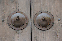 Door knobs from the Yong An Si temple, now a museum, Beiyue Hengshan Mountain, Datong, Hunyuan County, Shanxi Province, China