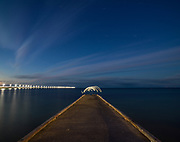 Night Lights on the Busselton Pier in Western Australia during a long exposure. Licensing and Editions of 17
