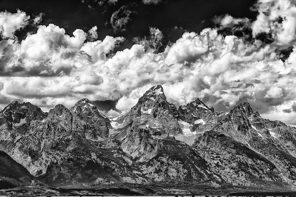 The Teton Mountain Range in Summer; Grand Teton National Park, WY.