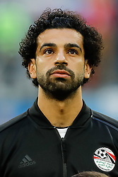 June 19, 2018 - Saint Petersburg, Russia - Mohamed Salah of Egypt national team during the 2018 FIFA World Cup Russia group A match between Russia and Egypt on June 19, 2018 at Saint Petersburg Stadium in Saint Petersburg, Russia. (Credit Image: © Mike Kireev/NurPhoto via ZUMA Press)