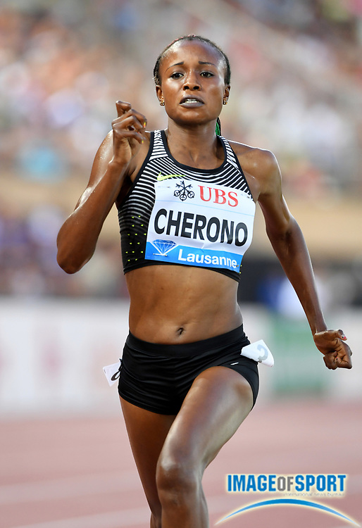 Aug 25, 2016; Lausanne, Switzerland; Mercy Cherono (KEN) places third in the women's 3,000m in 8:34.49 during the 2016 Athletissima in an IAAF Diamond League meeting at Stade Olympique de la Pontaise. Photo by Jiro Mochizuki