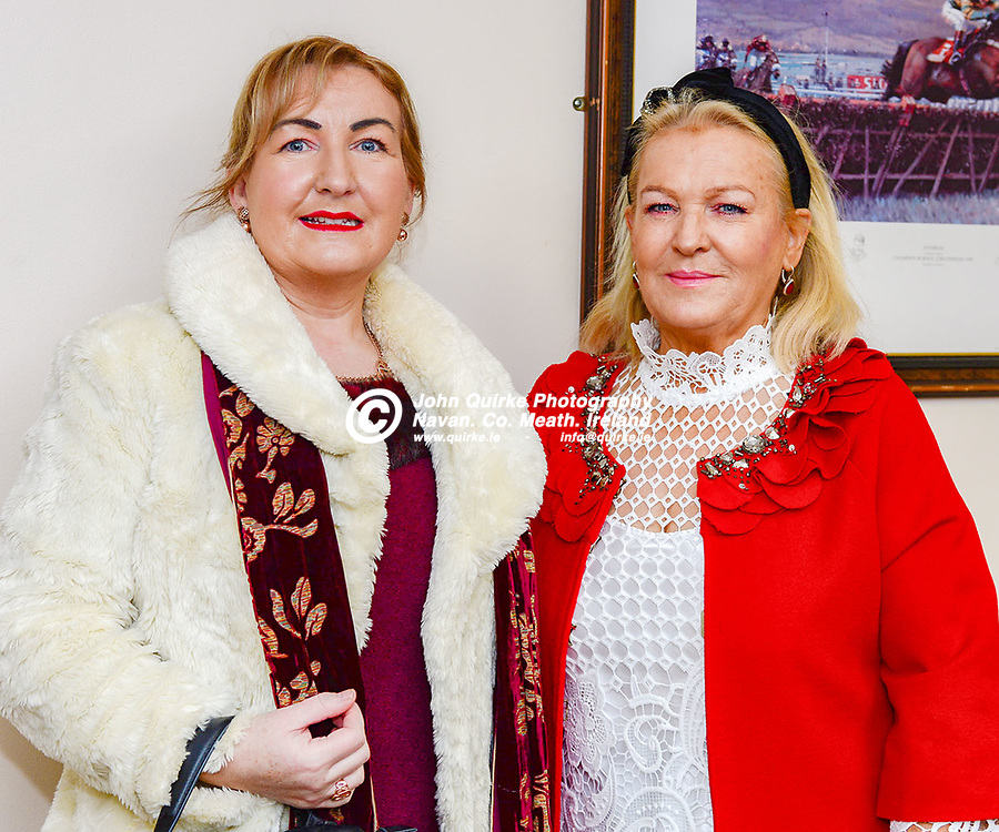 Pictured   at Navan races 'Ladbrokes Troytown Chase & Ladies Day' were Ruth Heaney, Duleek (left) and Dolores Connolly.<br /> <br /> Photo: GERRY SHANAHAN-WWW.QUIRKE.IE<br /> <br /> 24-11-2019