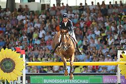 Delmotte Nicolas, (FRA), Number One d Islo Un Prince<br /> CSIO Nations Cup - Mannheim 2015<br /> © Hippo Foto - Stefan Lafrentz