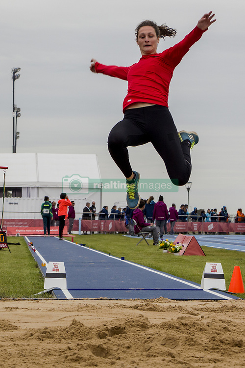 October 11, 2018 - Buenos Aires, Federal Capital, Argentina - The young Athlete Beernaert Maite of 16 years of the delegation of Belgium debuted this afternoon at the Olympic Youth Games in the discipline of Women's long Jump, Stage 1, remaining in the position number 4. (Credit Image: ©  Roberto Almeida Aveledo/ZUMA Wire)